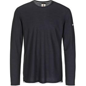 super.natural Piquet T-shirt à manches longues Homme, blue black/denim bleach melange